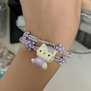 Hello Kitty Stretchy Beaded Bracelets